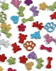 Enfeite Adesivo para Cachorro 'Sortido' - Pacote com 50 unidades