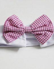 Gola com Gravatinha Rosa para Cachorro 'Funny Tie' - Unitário