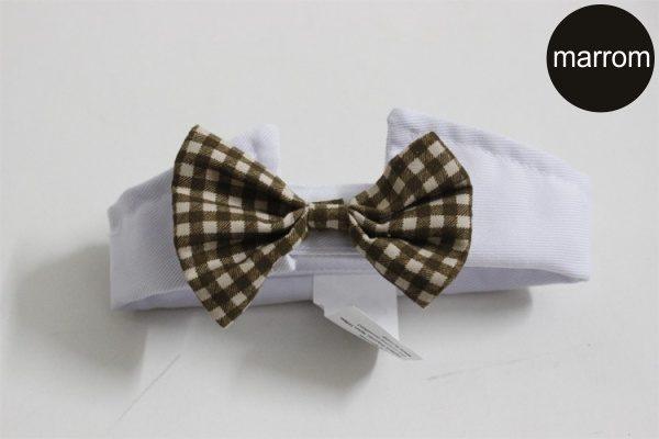 Gola com Gravatinha Marrom para Cachorro 'Funny Tie' - Unitário